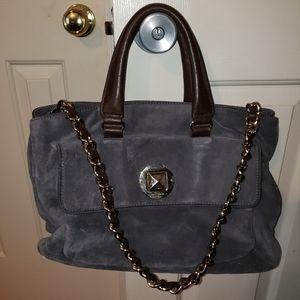Kate Spade Doce Gray Suede Tote